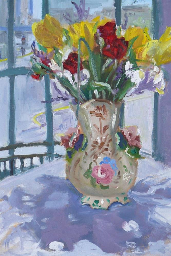 """Flowers For Me"" original fine art by Darlene Young"