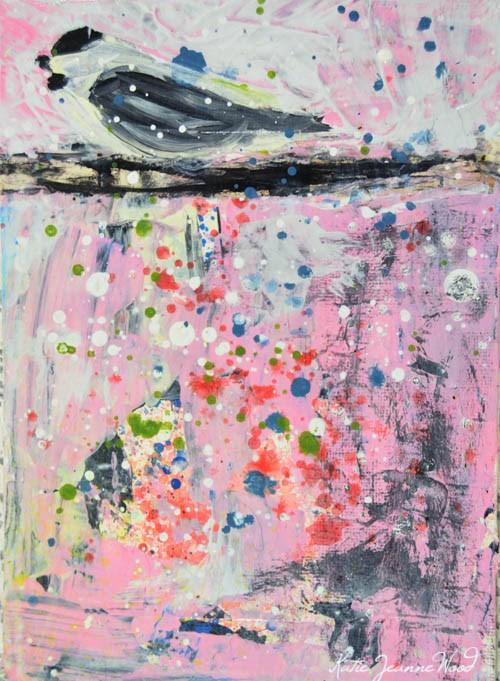 """""""Bird No 63"""" original fine art by Katie Jeanne Wood"""