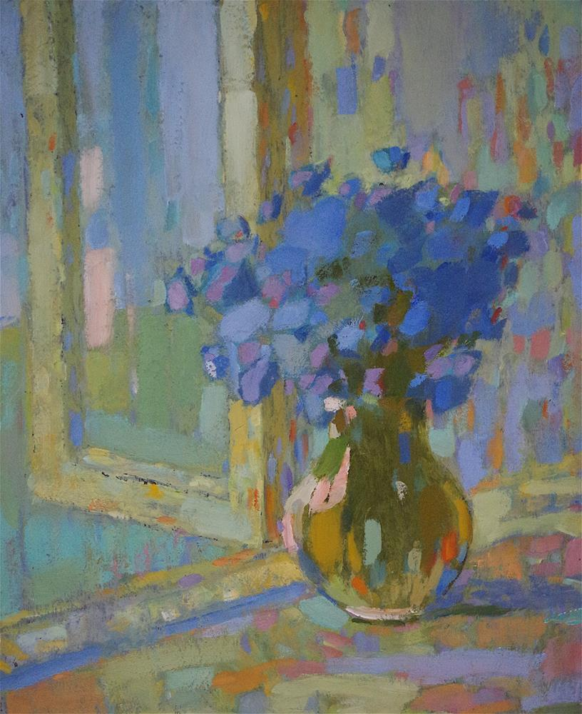 """Vase of Flowers, Still life Original oil painting, Impressionism"" original fine art by V Yeremyan"