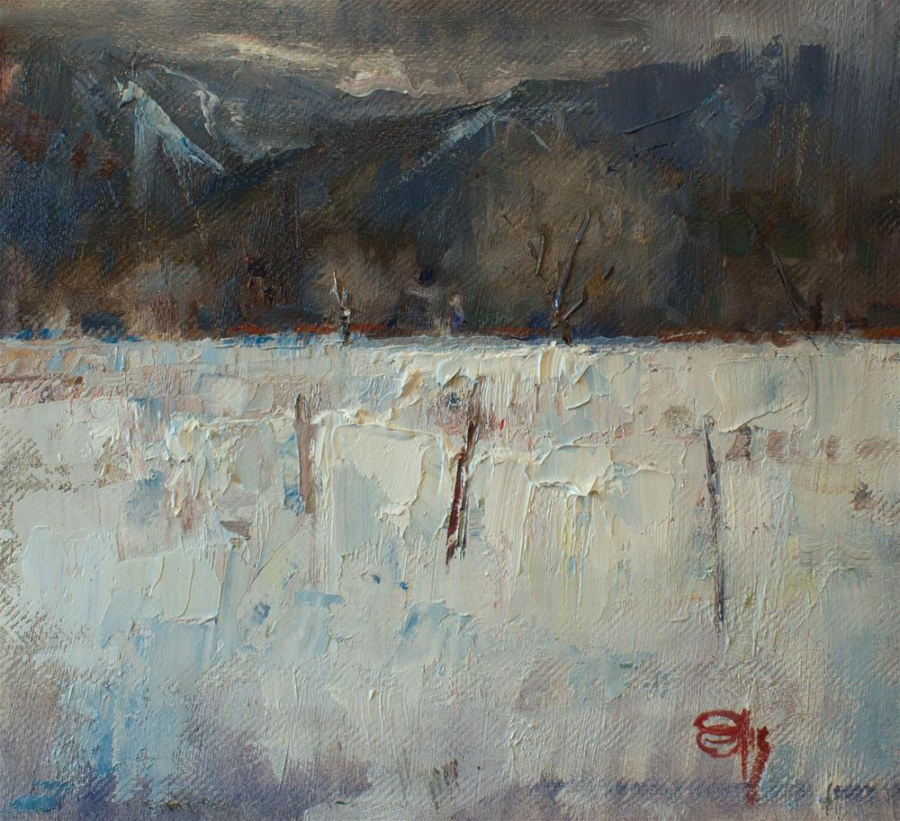 """Winter Falls Upon the Sangre De Cristo"" original fine art by devin roberts"