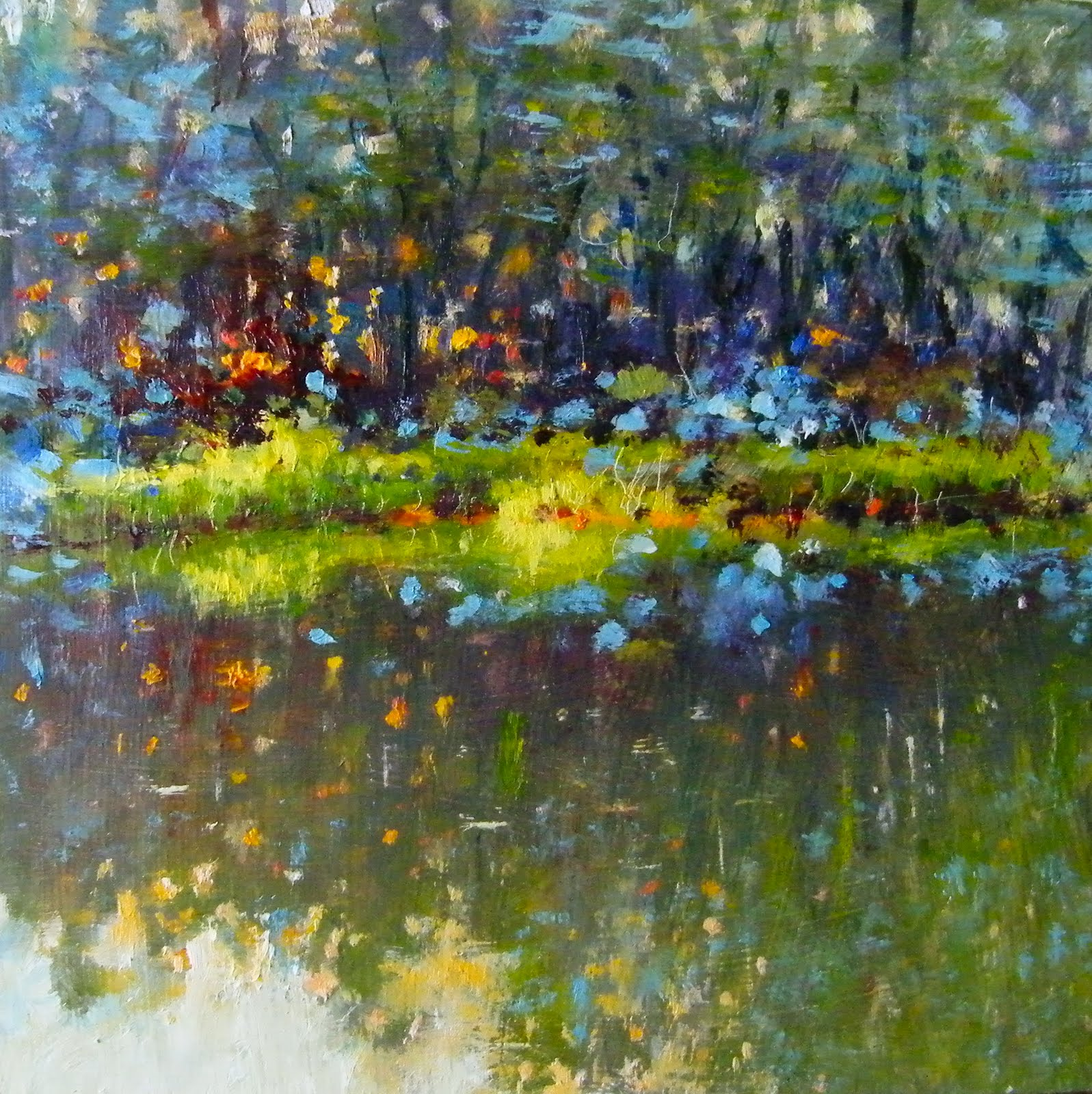 """Evening Light on Yvon's Pond"" original fine art by Ken Devine"