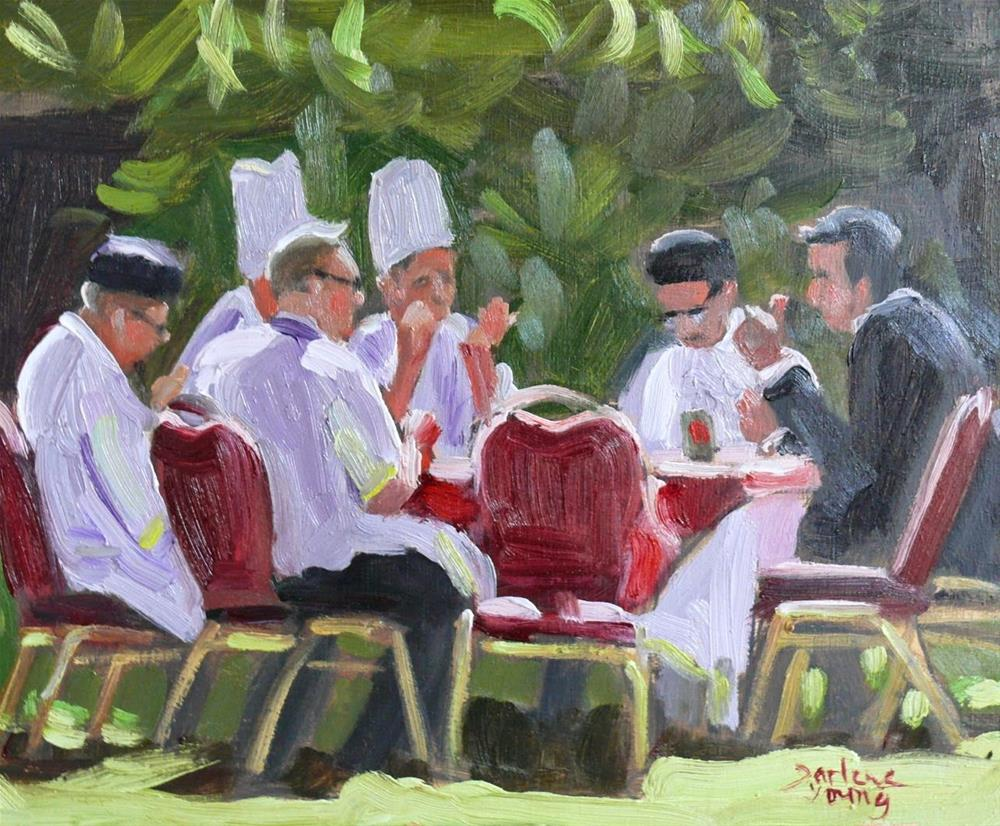 """752 Empress Staff Lunch"" original fine art by Darlene Young"
