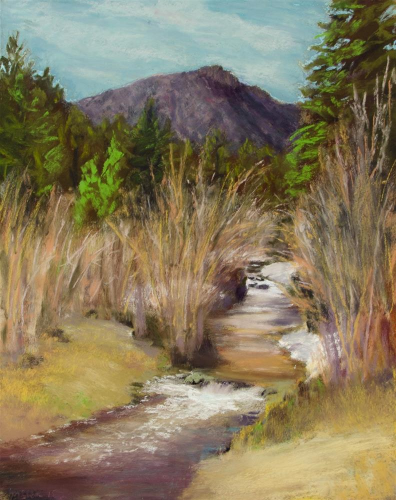 """Spring Flow"" original fine art by Nelia Harper"