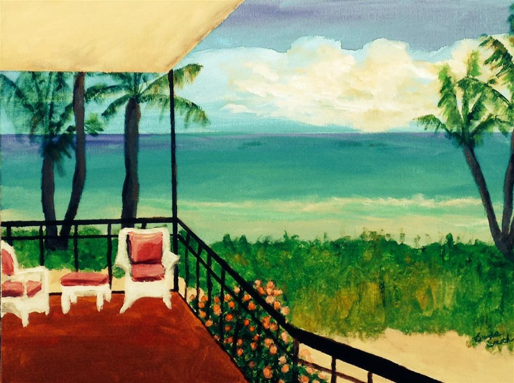 """View from the Balcony"" original fine art by Brenda Smith"