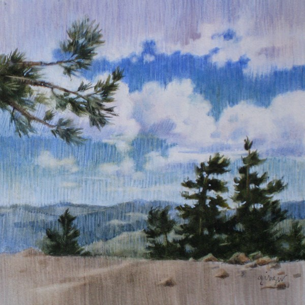 """View from Limber Pine"" original fine art by Ginger Pena"