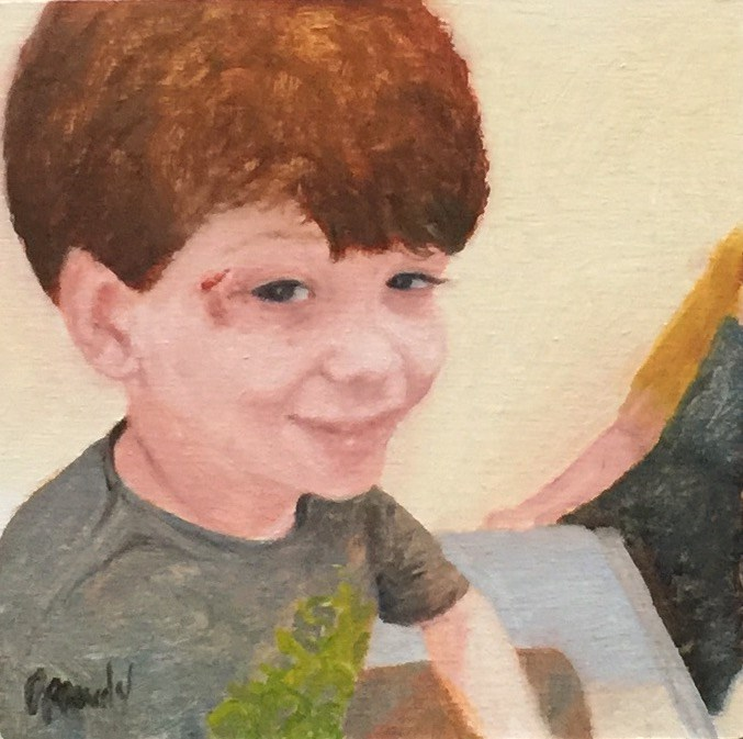 """Boy in ER"" original fine art by Stephanie Drawdy"