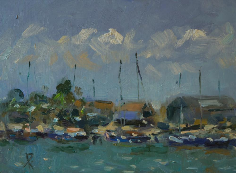 """Boats on the Arun"" original fine art by Andre Pallat"