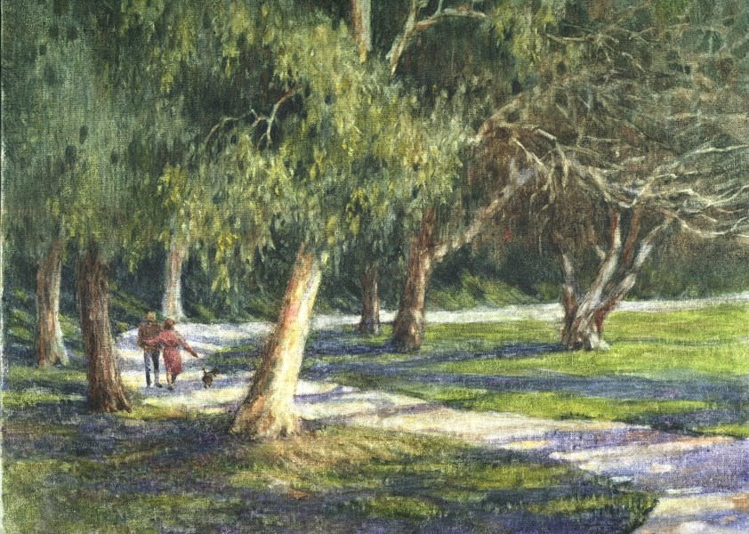"""A Walk in Central Park"" original fine art by Ginger Pena"