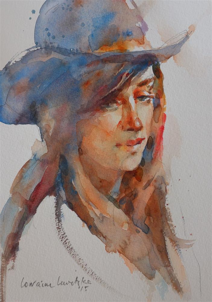 """Portrait # 1 Cowgirl"" original fine art by Lorraine Lewitzka"
