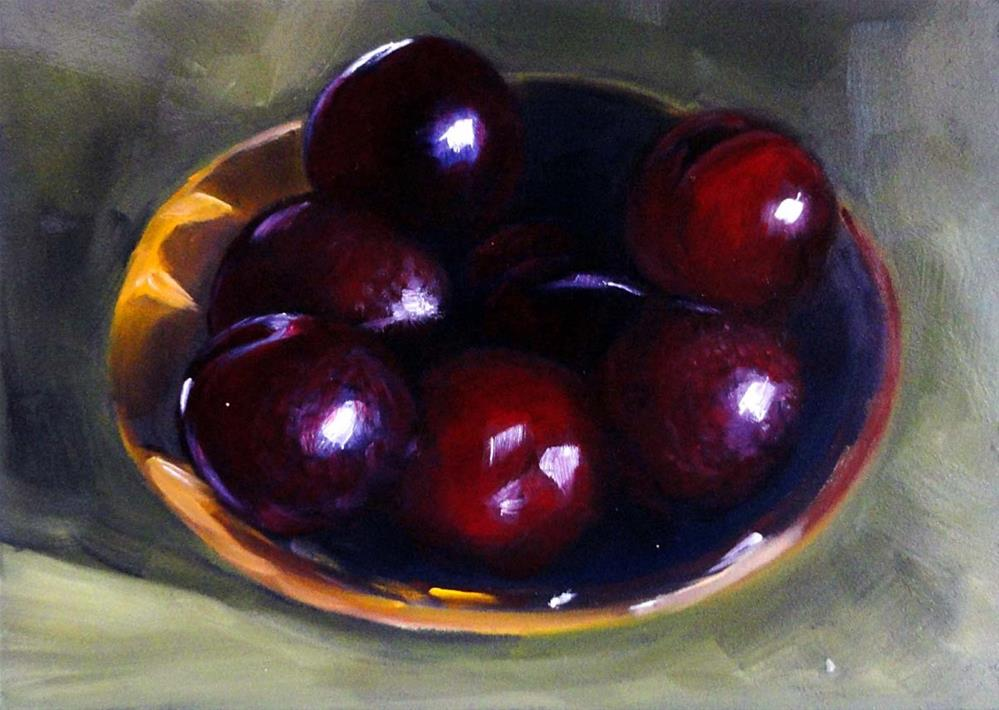 """Plum-lucious"" original fine art by Cietha Wilson"