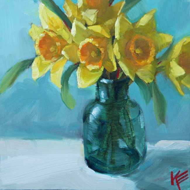 """Spring has Sprung"" original fine art by Krista Eaton"