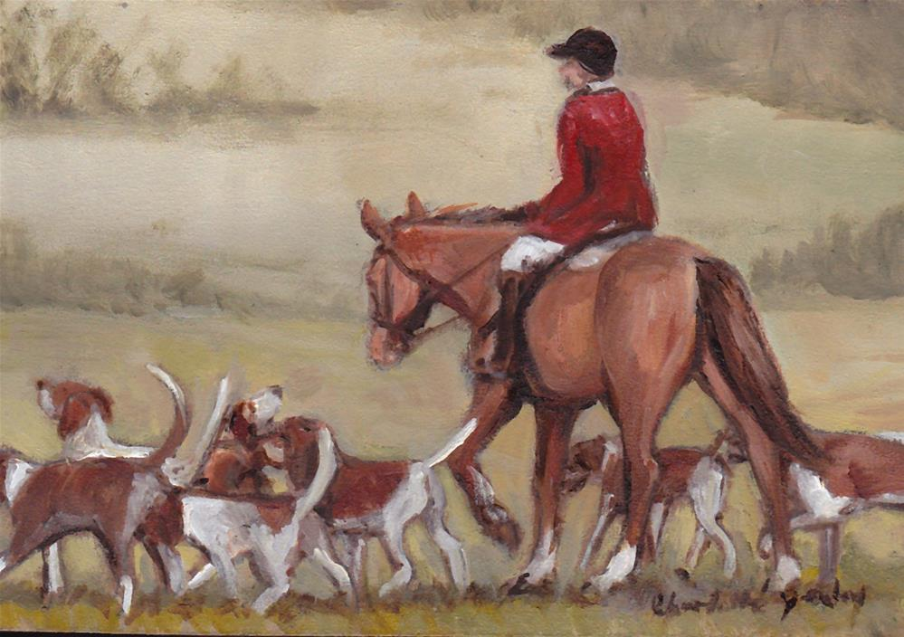 """Going on a Foxhunt"" original fine art by Charlotte Yealey"