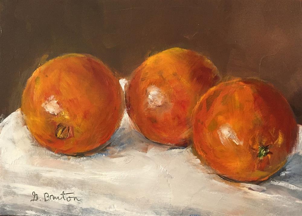 """""""Three Oranges"""" original fine art by Gary Bruton"""