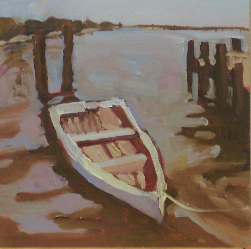 """Small Works: Boat I"" original fine art by Claudia L Brookes"