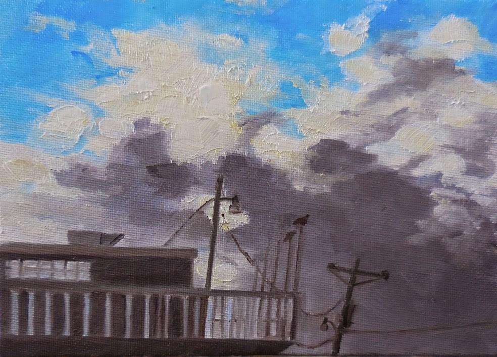 """Roof Top View"" original fine art by Beth Moreau"