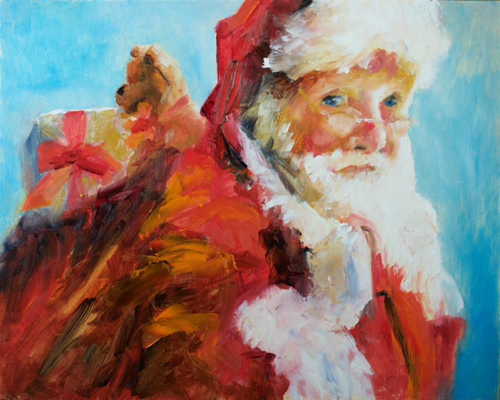 """Santa 2015"" original fine art by Sue Churchgrant"