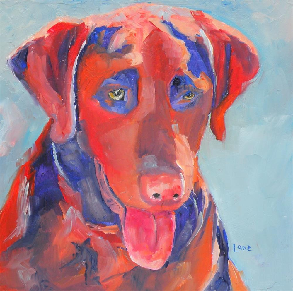 """RUFUS 38/100 OF 100 PET PORTRAITS IN 100 DAYS © SAUNDRA LANE GALLOWAY"" original fine art by Saundra Lane Galloway"