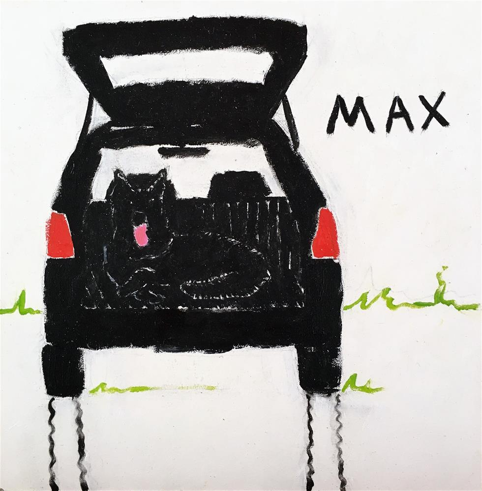 """Max"" original fine art by Tracy Wise"