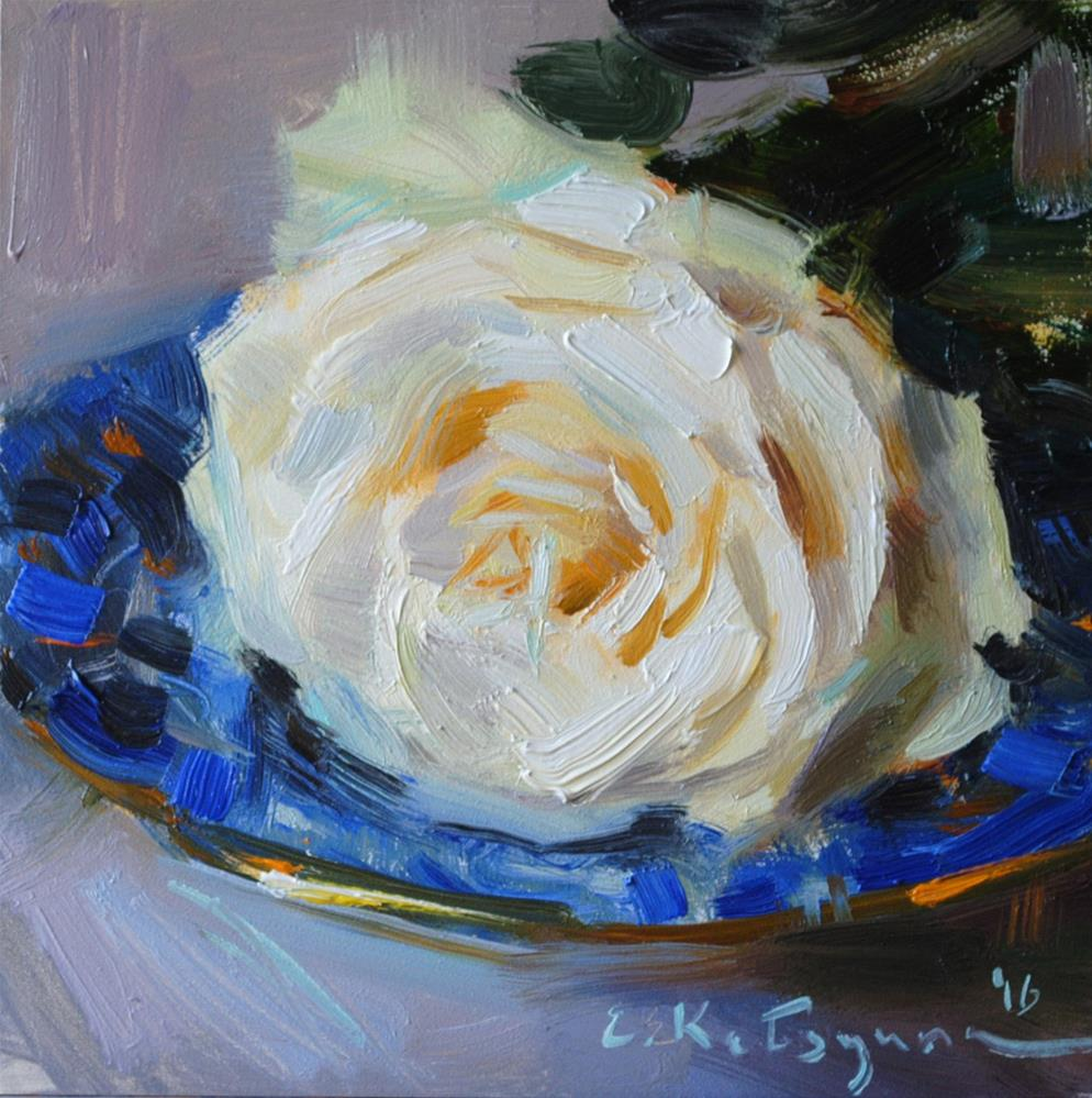"""February Rose"" original fine art by Elena Katsyura"