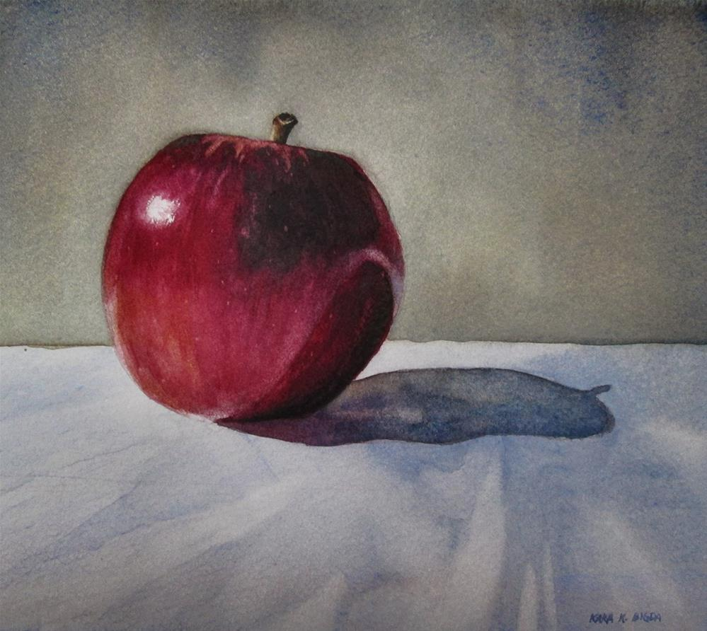 """An Apple a Day"" original fine art by Kara K. Bigda"
