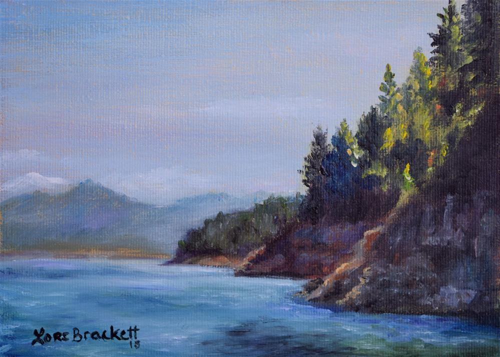 """View From the Boat"" original fine art by Lori Brackett"