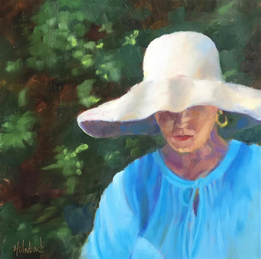 """Garden Hat"" original fine art by Pam Holnback"
