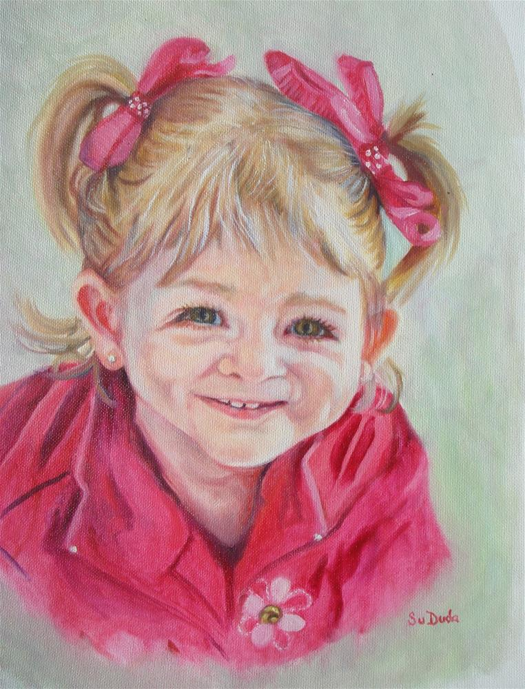 """QT Pie"" original fine art by Susan Duda"