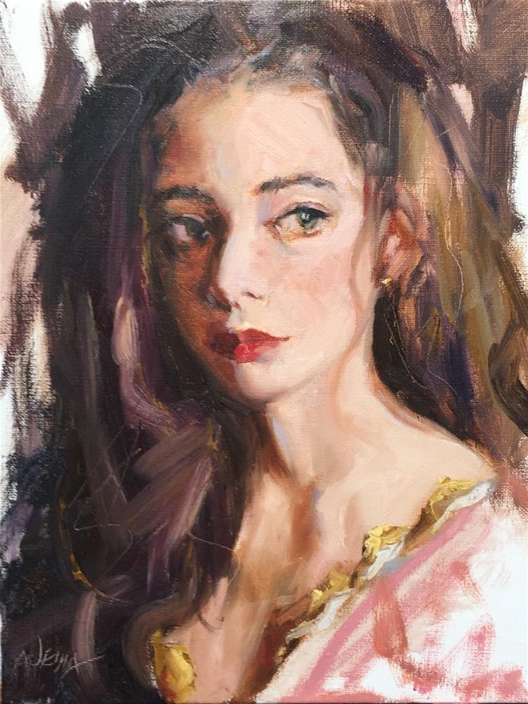 """Hesitant"" original fine art by Jenny Buckner"