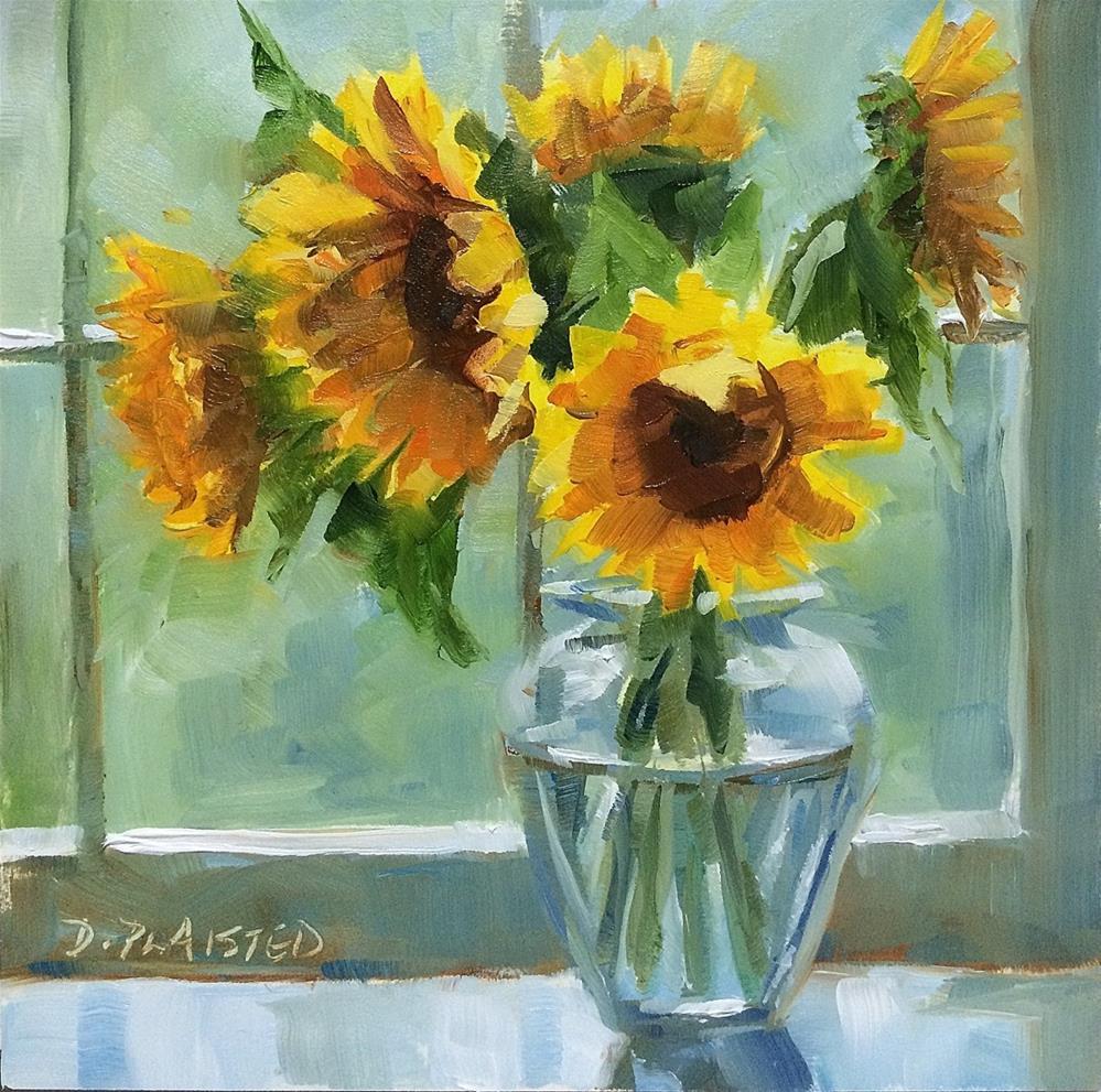 """""""Windowsill Bouquet"""" original fine art by Diane Plaisted"""