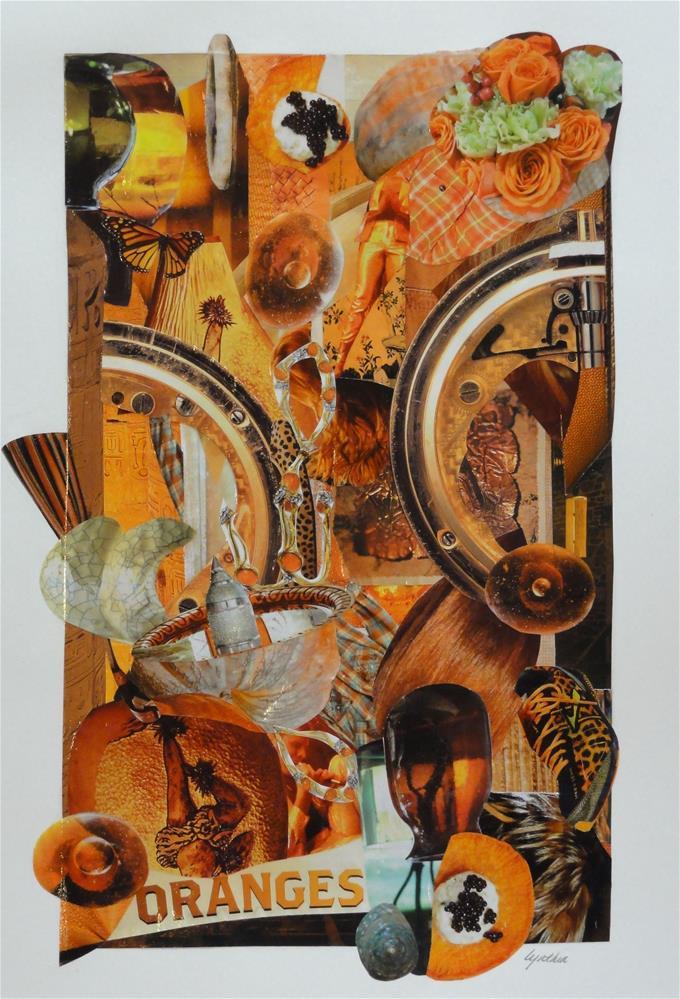 """""""Color Study:  Oranges"""" original fine art by Cynthia Frigon"""