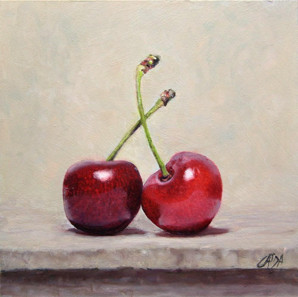 """two Cherries "" original fine art by Arthur Gaida"
