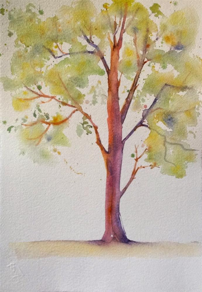"""Tree in Spring"" original fine art by Maggie Flatley"