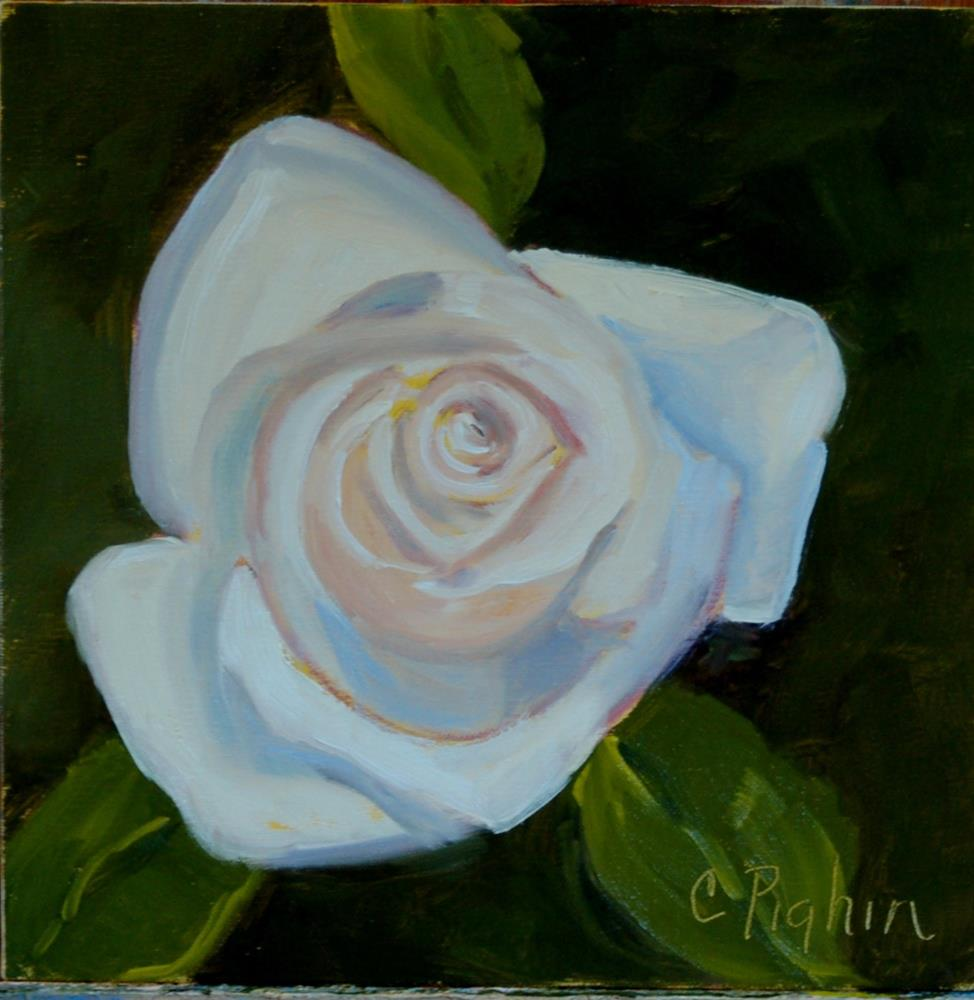 """Birthday Rose"" original fine art by Carol Pighin"