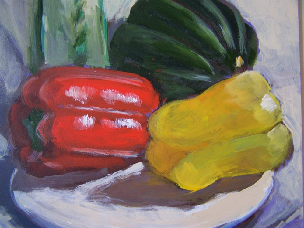 """Peppers"" original fine art by Joan Reive"