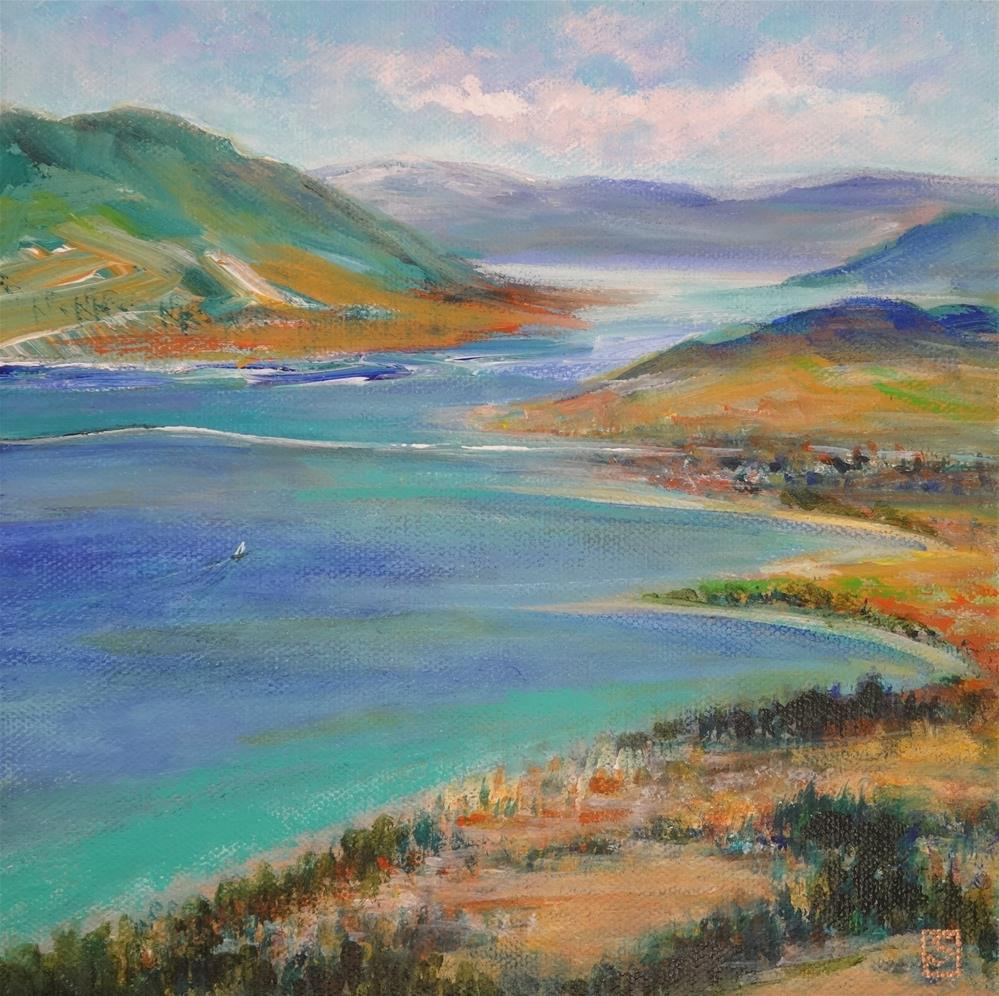 """5070 - Glimmer on the Lake"" original fine art by Sea Dean"