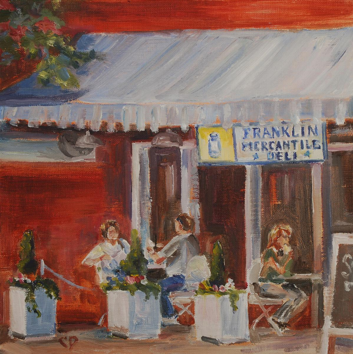 """Franklin Charm"" original fine art by Carol DeMumbrum"