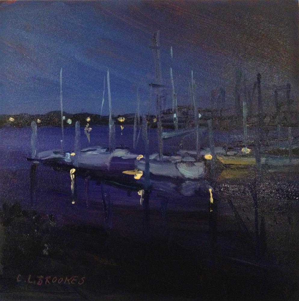 """""""Boats and Bridges"""" original fine art by Claudia L Brookes"""