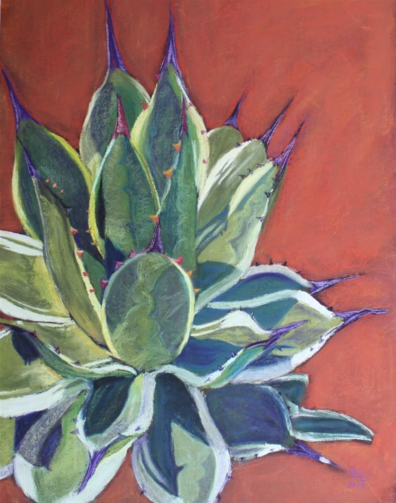 """Venti Agave with Cream"" original fine art by Anna Lisa Leal"