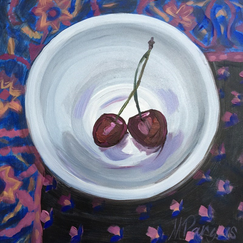 """Boho Cherry Love"" original fine art by Mary Pargas"