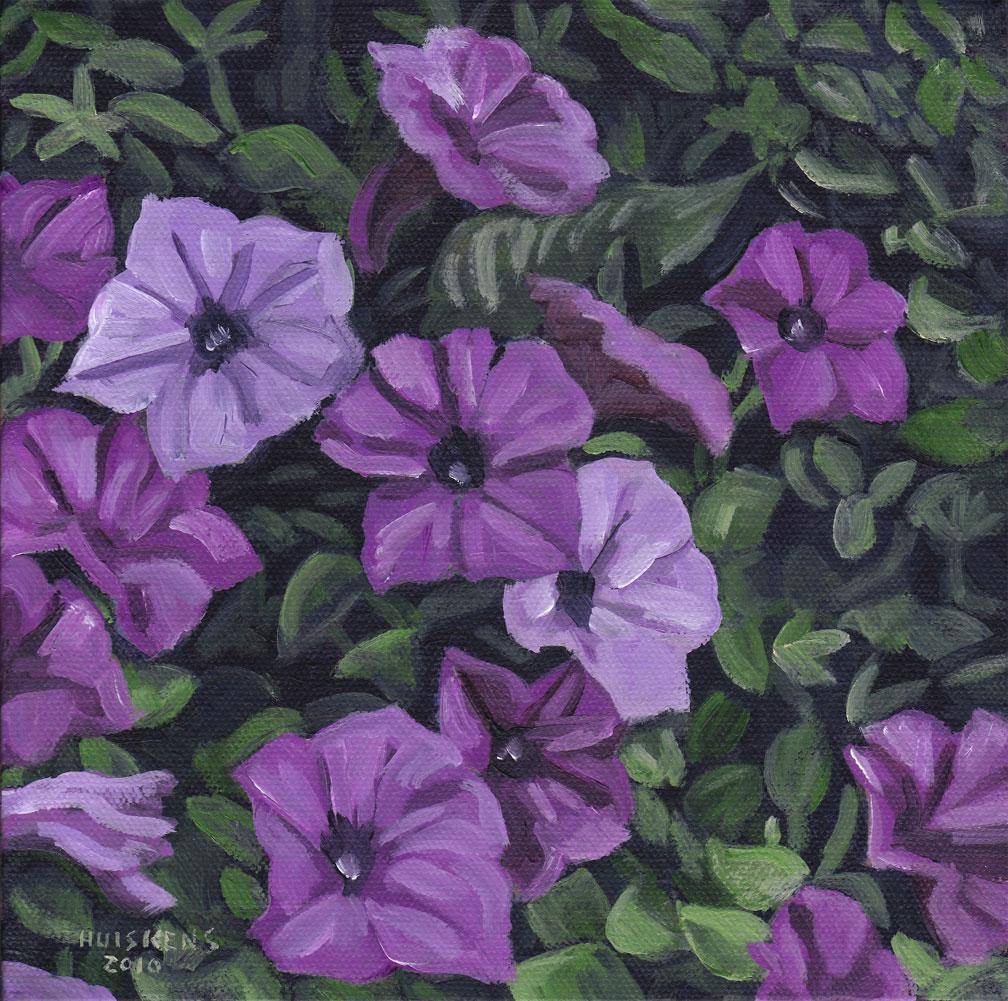 """Petunias"" original fine art by Randal Huiskens"