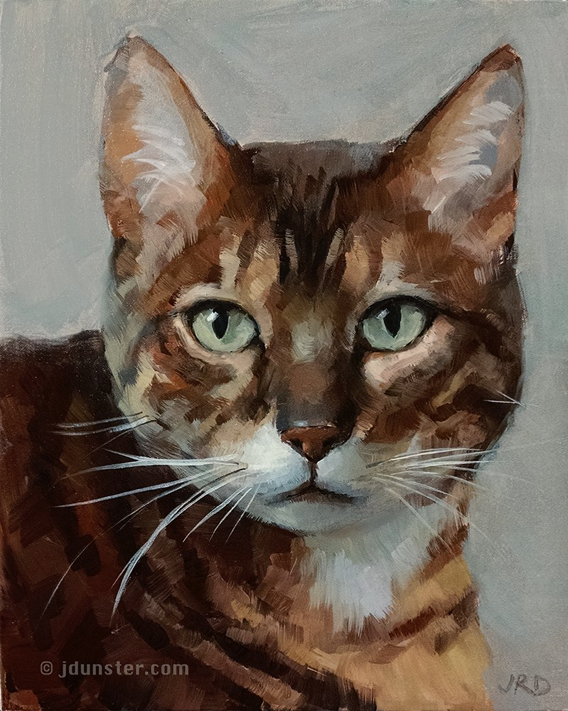 """Zorn Cat"" original fine art by J. Dunster"