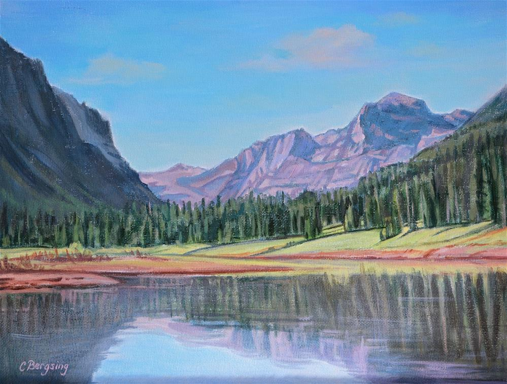 """Hyalite Reservoir"" original fine art by Cathy Bergsing"