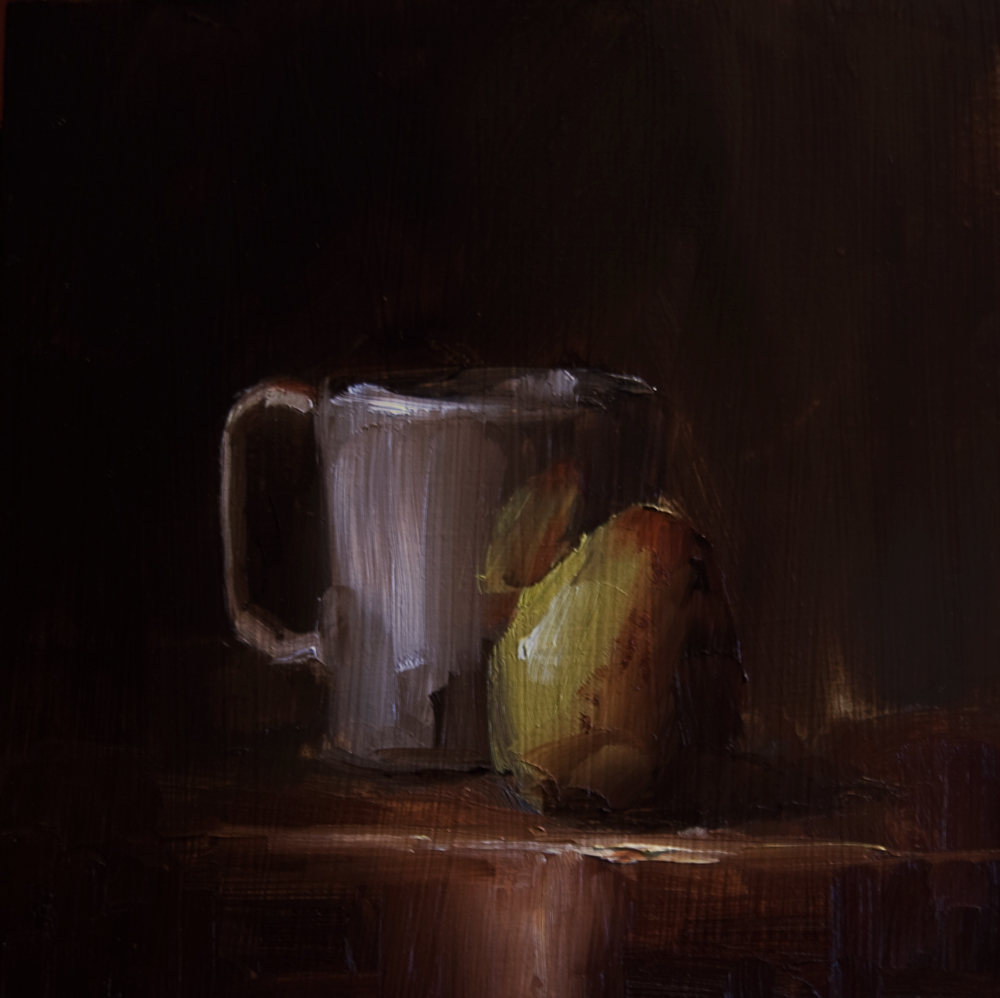 """Cup and Pear"" original fine art by Neil Carroll"