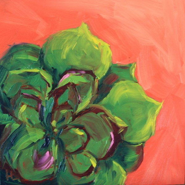 """Cool Cactus"" original fine art by Heather Lehmberg"