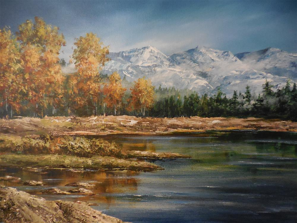 """View of the Rockies"" original fine art by Terri Nicholson"