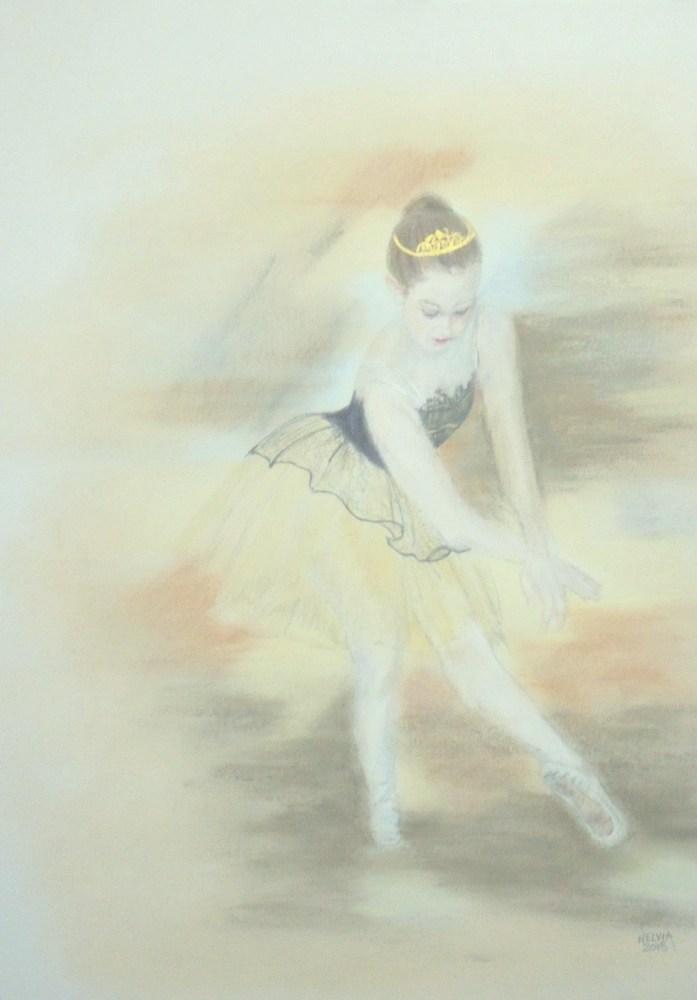 """Dream Ballerina"" original fine art by Nelvia  McGrath"