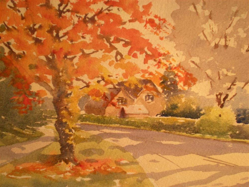"""Along the Rissington Road"" original fine art by Graham Findlay"