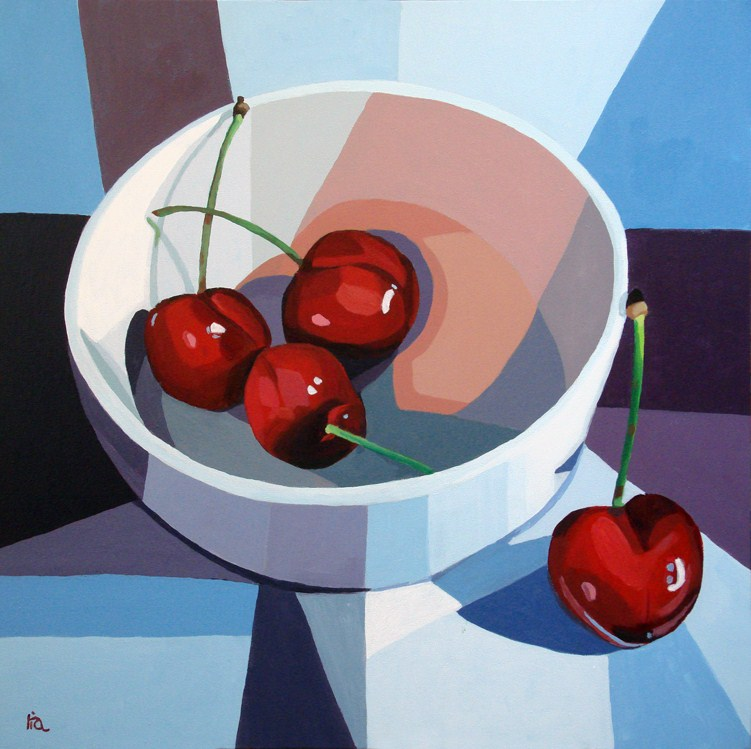 """life is a bowl of cherries"" original fine art by Ria Hills"