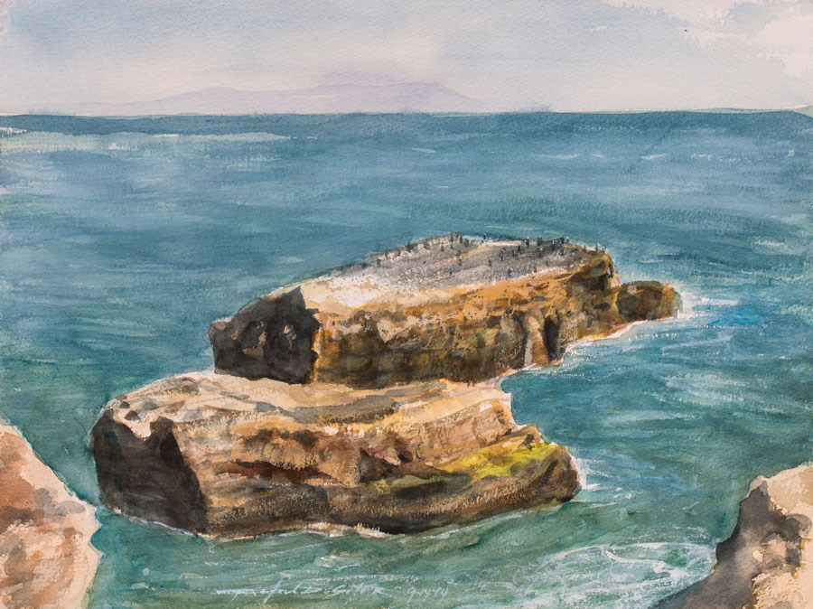 """West Cliffs, Santa Cruz, CA"" original fine art by Rafael DeSoto Jr."