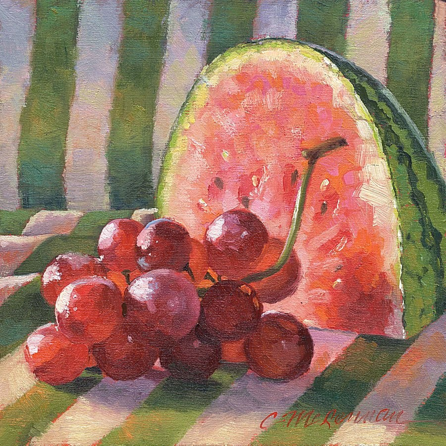 """Summer Delights"" original fine art by Connie McLennan"